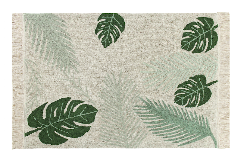 tropical green rug lorena canals
