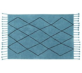 Washable Rug Bereber Petroleum