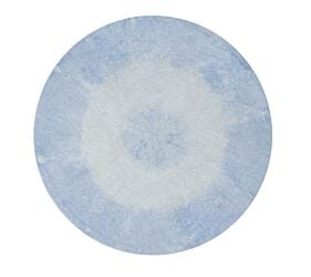 Washable Rug Tie-Dye Soft Blue