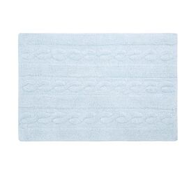 Washable Rug Braids Soft Blue - Small
