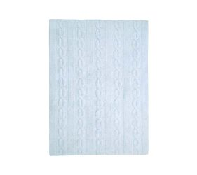 Washable Rug Braids Soft Blue