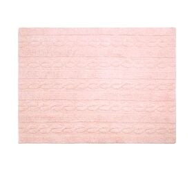 Washable Rug Braids Soft Pink - Medium