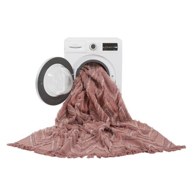 Washable Rug Earth Canyon Rose into a washing machine