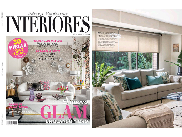 Knitted Blanket Air Dune White in Interiores Magazine