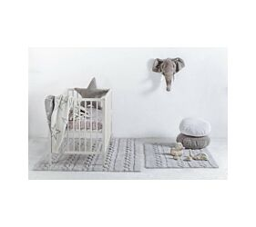 Tapis Lavable Braids Pearl Grey S