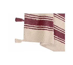 Tapis Lavable Stripes Marsala