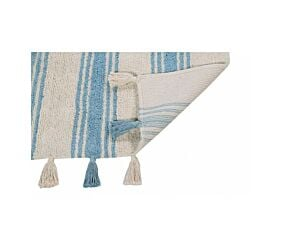Washable Rug Stripes Nile Blue