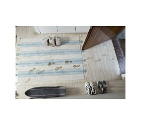 Tapis Lavable Stripes Nile Blue