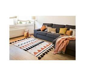 Washable Rug Azteca Natural Terracota L