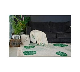 Blanket Bubbly Natural - Green