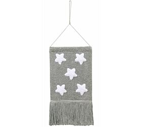 Wall Hanging  Stars Grey/ Colgante Pared Stars Gris