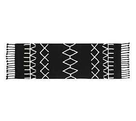 Washable Rug Bereber Black- Pasillo
