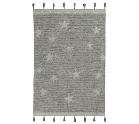 Washable Rug Hippy Stars Grey