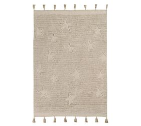 Washable rug Hippy Stars Natural