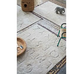 RugCycled Washable Rug ABC S