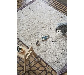 RugCycled Washable Rug ABC XS