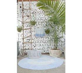 Alfombra Lavable Tie-Dye Soft Blue