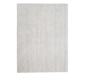 Washable Rug Braids Pearl Grey - Medium