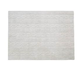 Washable Rug Braids Pearl Grey - Small
