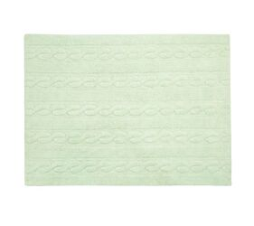 Washable Rug Braids Soft Mint - S