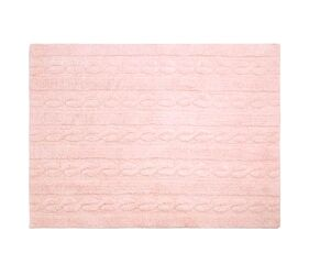Washable Rug Braids Soft Pink