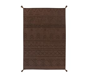 Washable rug Tribu Soil Brown L
