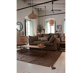 Washable rug Tribu Soil Brown S