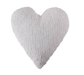 Washable Cushion Heart - White