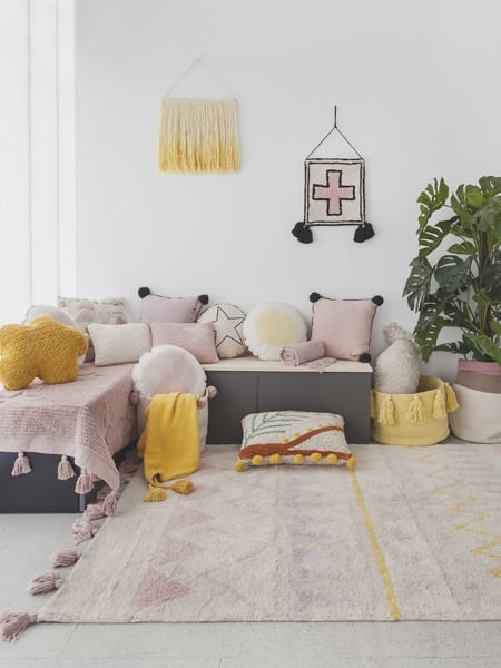 Soft Pastel Living Room